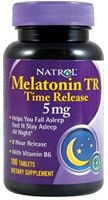 Melatonin TR 5mg Time Release 100 Tabletter