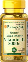 Vitamina D3 5000 I.U. 100 Cápsulas