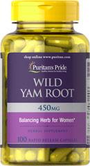 Wild Yam Root - Raíz de Ñame Silvestre 405 mg 100 Cápsulas