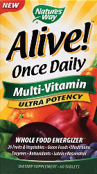 Alive Once Daily Multi-Vitamin Ultra Potency 60 Tabletas