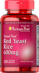 Red Yeast Rice - Arroz de Levadura Roja 600 mg 120 Cápsulas