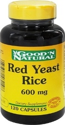 Red Yeast Rice -Röd Jäst Ris 600 mg 120 Kapslar