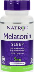 Melatonin TR 5 mg Time Release 100 Tablets