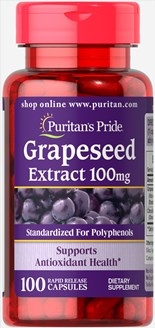 Grapeseed Extract 100 mg 100 Capsules