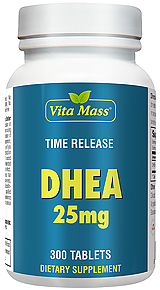 DHEA 25 mg TR Time Release 300 Tablets