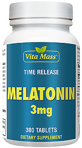 Melatonin 3 mg TR Time Release 300 Tablets