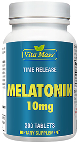 Melatonin 10 mg TR Time Release 300 Tablets