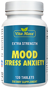 Mood Stress Anxiety - Humør Stress Angst - 120 Tabletter
