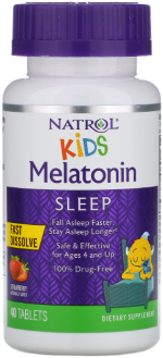 KIDS - Melatonin 1 mg - Fast Dissolve - 40 Tablets - Strawberry