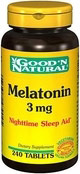 Melatonin 3 mg - Good N&#39 Natural - 240 Tablets