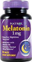 Melatonin Natrol - 1 mg - 180 Tabletter