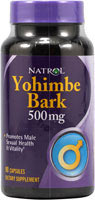 Yohimbe Bark 500mg 90 Caps