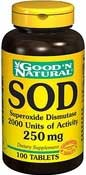SOD Superoxid Dismutase 100 Tabletter