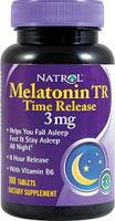 Melatonina TR 3 mg - Hormona Sueño - 100 Comprimidos